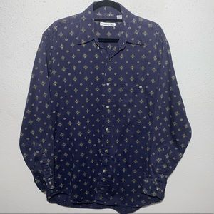 MEMBERS ONLY Mens Medium Button Down